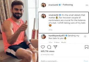 Virat Kohli uses saw to give final shape to his bat, Hardik Pandya requests to shape his bats too