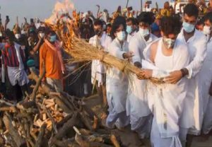 Ram Vilas Paswan cremated with full state honours, Chirag faints after lighting funeral pyre