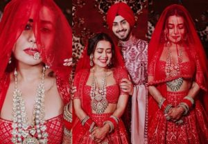 NehuDaVyah: Neha Kakkar looked drop-dead gorgeous in a red bridal lehenga; See Pics
