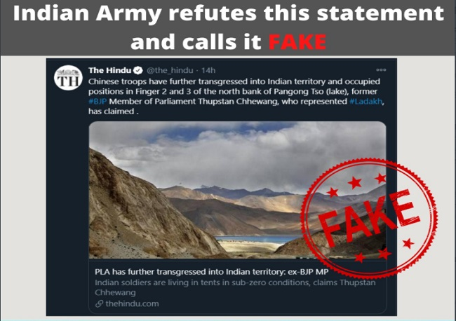 Fact Check: Claims of Chinese troops transgressing into Finger 2 & 3 is fake… see details