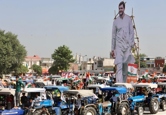 IN PICs: Day 2 of Rahul Gandhi's tractor rally in Punjab: Pictures Gallery, Photos