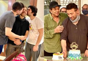 Fam jam! Dharmendra shares pictures from Sunny Deol's birthday celebrations; See Pics