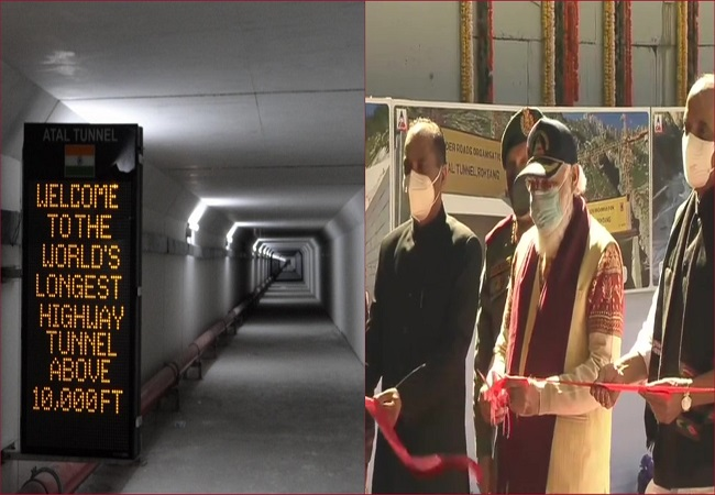 PM Modi inaugurates 9.02km Atal Tunnel connecting Manali to Lahaul-Spiti valley