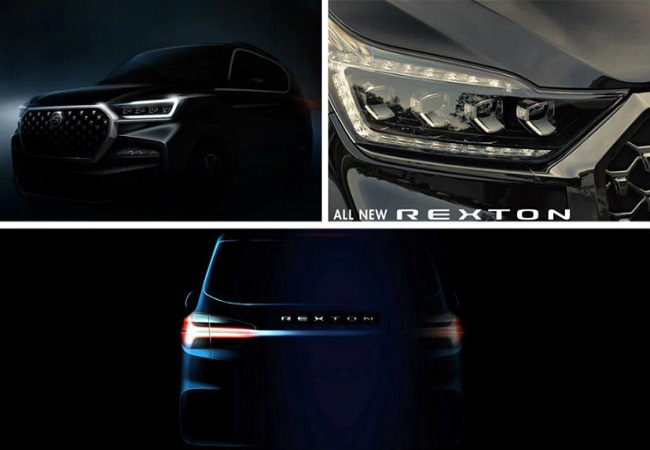 SsangYong Rexton G4 SUV facelift images leaked; official unveil in November