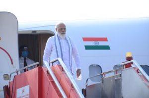 Gujarat: Prime Minister Narendra Modi arrives at Ahmedabad; See Pics