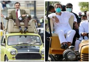 Netizens troll Rahul Gandhi over his 'Sofa-Cum Tractor', compares him to Mr. Bean as photo of his tractor rally goes viral