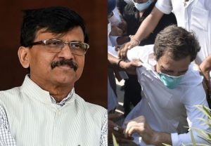 """'Rahul Gandhi's collar was caught… in a way it is a """"gangrape"""" of country's democracy': Sanjay Raut"""