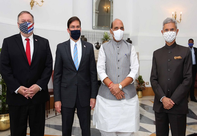 India-US sign landmark defence pact BECA at 2+2 ministerial dialogue