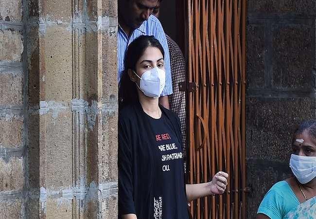 Rhea Chakraborty released from Mumbai prison after being granted bail in drugs case
