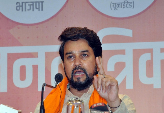 Union Minister Anurag Thakur appointed J&K election incharge for local bodies