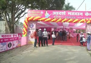 Bihar Assembly Polls: Model polling booth in Saharsa raises awareness about COVID-19