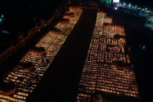 Saryu banks sparkle with diyas, over 5.84 lakh earthen lamps lit up; Ayodhya creates new record