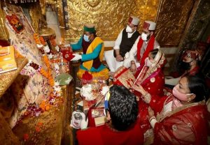 JP Nadda offers prayers at Naina Devi temple…. PICS