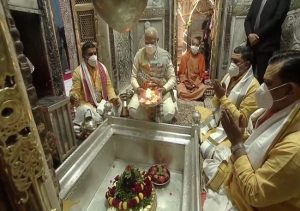 IN PICS: PM Modi offers prayers at Kashi Vishwanath Temple