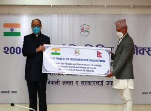 India gifts 2,000 vials of Remdesivir, Covid-19 related assistance to Nepal