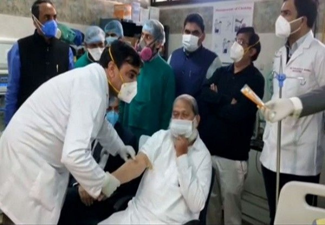 Haryana Health Minister Anil Vij gets trial dose of India-made Covaxin
