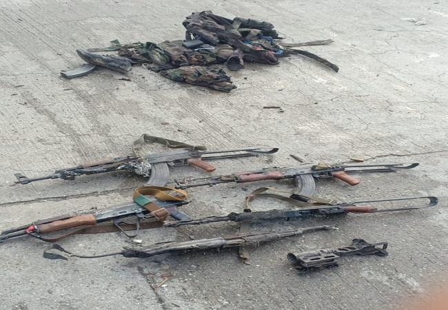 Weapons recovered from the site