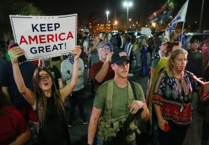 US Elections 2020: Trump supporters protest outside Arizona election center