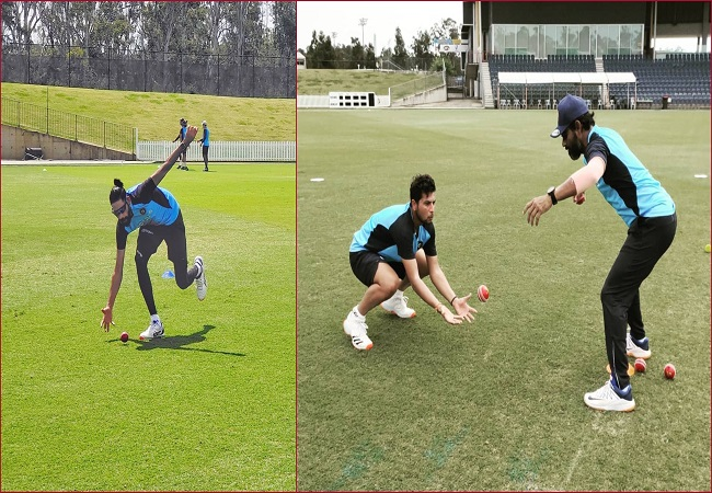 Team India sweats it out in Test match practice ahead of Australia tour