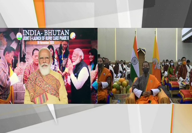 PM Modi launches RuPay Card Phase-II in Bhutan in a virtual ceremony