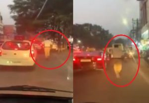 Hyderabad traffic cop runs through heavy traffic to clear way for ambulance, video goes viral