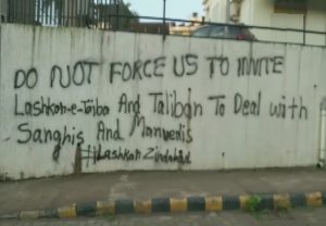'Don't force us to invite Lashkar-e-Taiba, Taliban to deal with Sanghis': Graffiti seen in Mangaluru