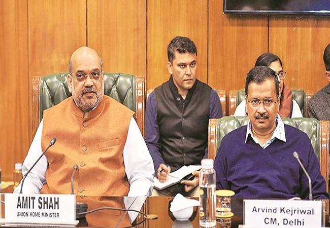 Amit Shah chairs meeting on rising Covid-19 cases in Delhi