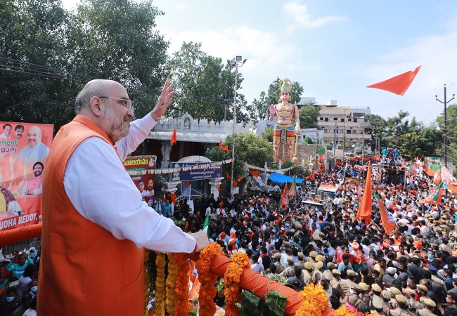 BJP not fighting to increase presence, but mayor will be from our party, says Amit Shah
