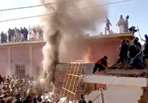 Hindu temple destroyed, set on fire by mob in Pakistan's Khyber Pakhtunkhwa province