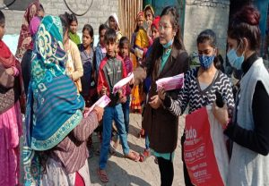 Menstrual hygiene campaign: ABVP's women wing distributes sanitary pads to slum students