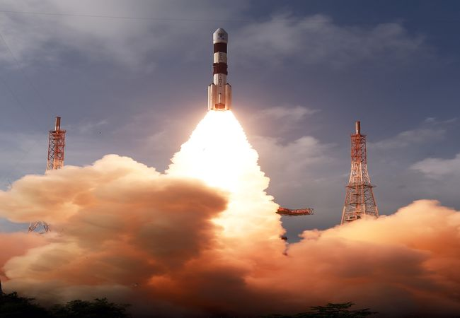Stunning glimpses of today's ISRO PSLV-C50 lift-off