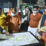 Chief Minister Yogi Adityanath inspects a night shelter in Varanasi