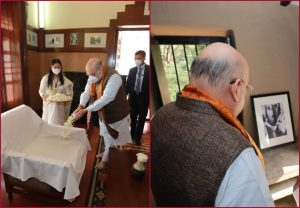 Amit Shah pays tribute to Rabindranath Tagore; See Pics