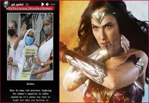Gal Gadot picks Shaheen Bagh's Bilkis as her personal 'Wonder Woman', deletes story later