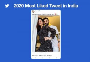 Virat Kohli and Anushka Sharma's pregnancy news becomes the most liked tweet of 2020