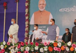 CM Rupani performs ground-breaking ceremony of Navda-Chavand bulk pipeline project worth Rs 644 crores
