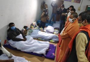 CM Yogi Adityanath inspects night shelter in Varanasi; See Pics