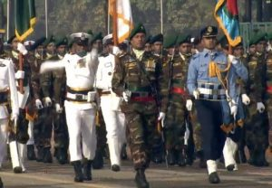 In a first, Bangladesh tri-service contingent takes part in India's Republic Day parade