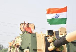 Gujarat: Chief Minister Vijay Rupani flags-off 91st K-9 Vajra Tank