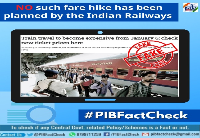 Fact Check: Railways says reports of fare hike from Jan 6, calls it 'fake', 'baseless'