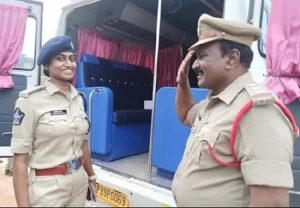 Its heart-warming! Photo of father on duty saluting DSP daughter in Andhra's Tirupati goes viral