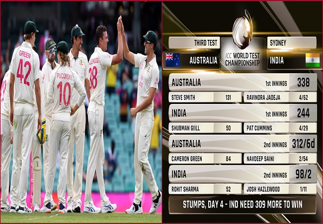 Ind vs Aus, 3rd Test: Australia in commanding position after dismissing set Indian openers