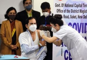IN PICs: Day 1 of Covid vaccination, healthcare workers get vaccine shot