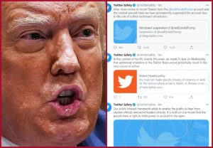 Twitter permanently suspends US President Donald Trump's account, cites risk of further incitement of violence