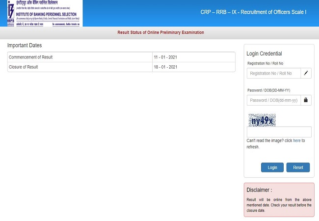 IBPS RRB Officers Scale 1 result 2020 declared: Here's direct link check