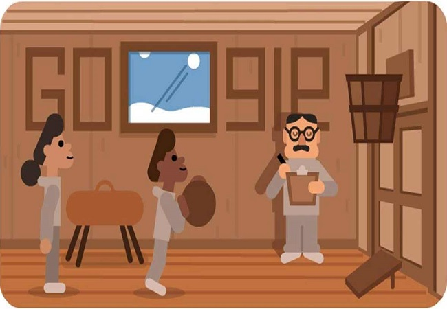 Google honours James Naismith, the father of Basketball with an animated doodle