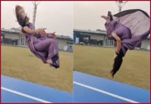 Internet can't keep calm: Gymnast Parul Arora does gravity-defying backflips in a saree (Video)