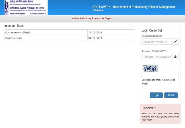 IBPS PO Scores & Cut Off released: Check here