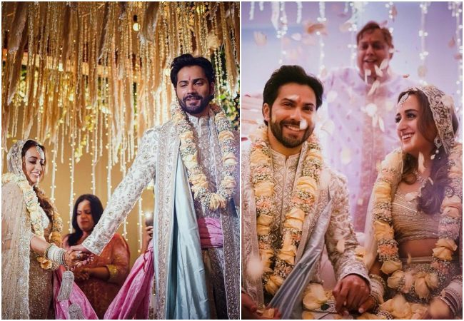 Here are the first pictures of newlyweds Varun Dhawan and Natasha Dalal
