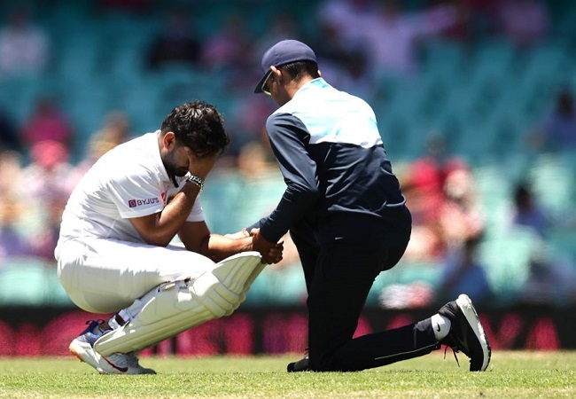 Ind vs Aus: Saha keeps wickets as Rishabh Pant taken for scans after blow on elbow